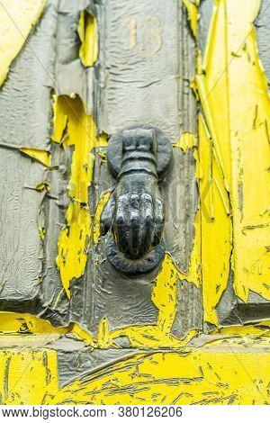 June 2020. London. Door Knocker In Spitalfields, London, England Uk Europe