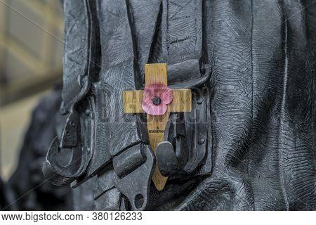 June 2020. London. Bomber Command Memorial In Hyde Park Corner, London Uk Europe