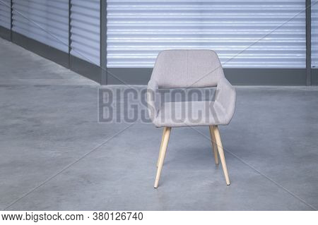 Empty Office Chair. Job Vacancy Concept. Copy Space.