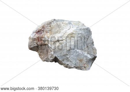 Quartzite Rock Isolated On White Background Included Clipping Path.