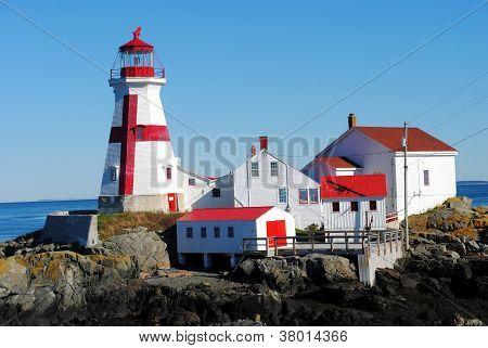 East Quoddy Lighthouse, Campobello Island, New Brunswick, Canada poster