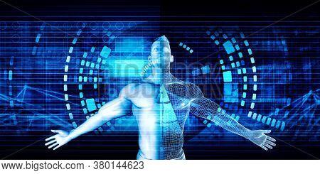 Industry 4.0 Digitalization Digitization and Digital Transformation 3d Render