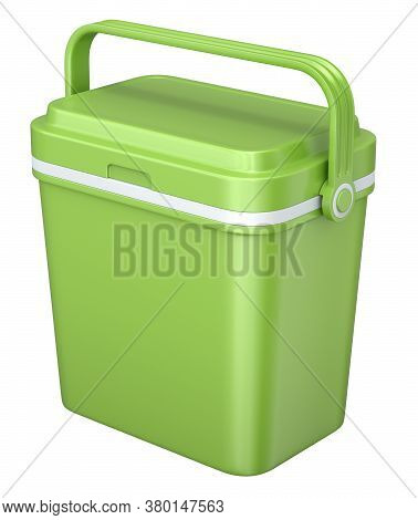 Green Coll Box Isolated On White Background - 3d Illustration