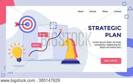 Strategic Plan Horse Chess Arrow Target Board Campaign For Web Website Home Homepage Landing Page Te