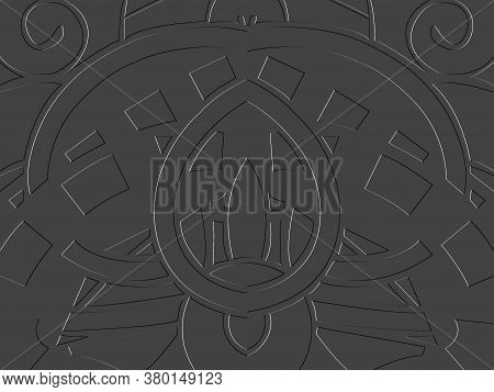 Gray Relief Symmetrical Illustration Background And Texture.