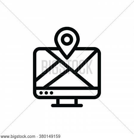 Lcd Pin Icon For Website Design And Desktop Envelopment, Development. Premium Pack.