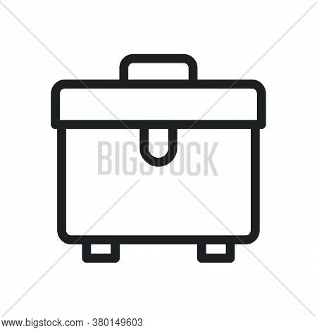 Briefcase Icon For Website Design And Desktop Envelopment, Development. Premium Pack.