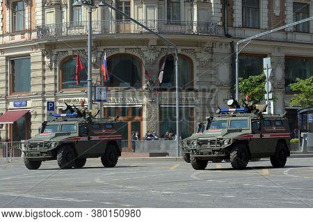 Moscow, Russia - June 20, 2020:multi-purpose Armored Car \