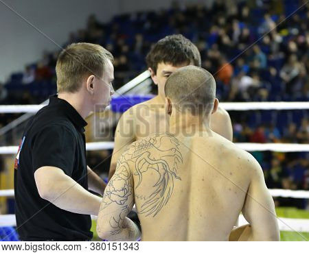 Orenburg, Russia - February 18, 2017 Year: The Fighters Compete In Mixed Martial Arts (mma)