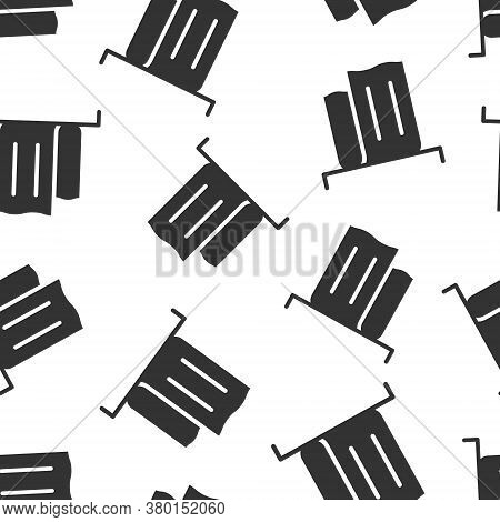 Bathroom Towel Icon In Flat Style. Washcloth Vector Illustration On White Isolated Background. Hygie