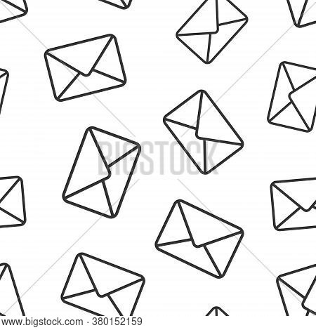 Email Message Icon In Flat Style. Mail Document Vector Illustration On White Isolated Background. Me