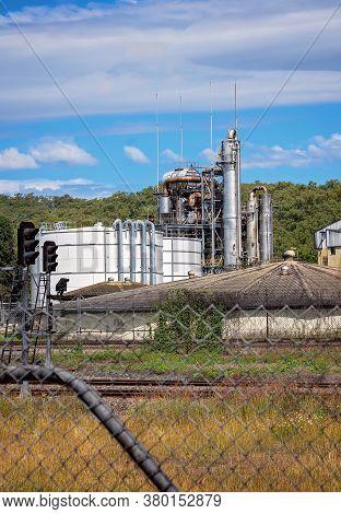 Ethanol Refinery At A An Australian Sugar Mill