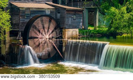 Pigeon Forging Mill In A Small Waterfall, The Pigeon Forge Mill, Commonly Called The Old Mill