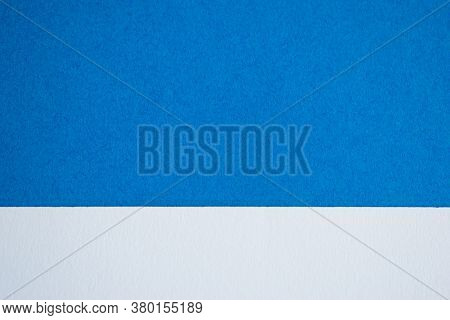 Blue And White Horizontally Divided Abstract Background