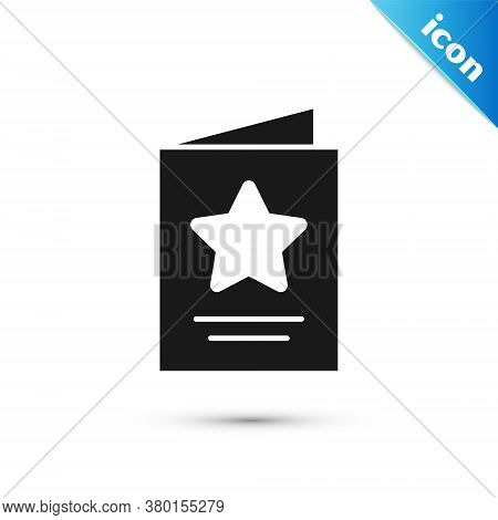 Grey Greeting Card Icon Isolated On White Background. Celebration Poster Template For Invitation Or