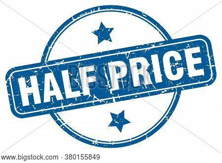 Half Price Grunge Stamp. Half Price Round Vintage Stamp