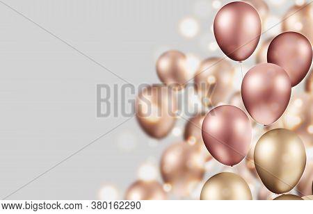 3d Illustration Gold Balloon With Box And Confetti Bomb Realistic Design Ideas Open Cardboard Box Re