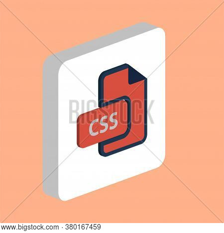 Css Document Simple Vector Icon. Illustration Symbol Design Template For Web Mobile Ui Element. Perf