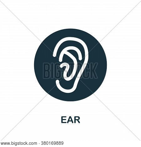 Ear Icon. Simple Element From Internal Organs Collection. Creative Ear Icon For Web Design, Template