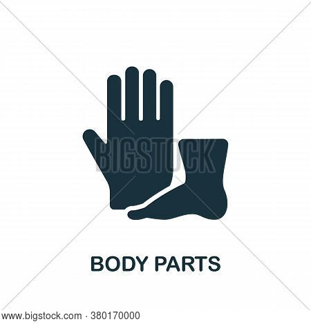 Body Parts Icon. Simple Element From Internal Organs Collection. Creative Body Parts Icon For Web De