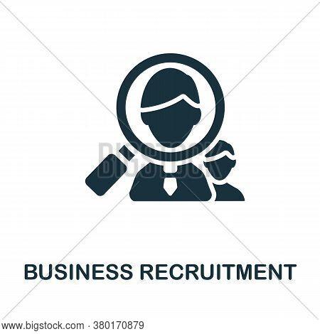Business Recruitment Icon. Monochrome Simple Business Recruitment Icon For Templates, Web Design And