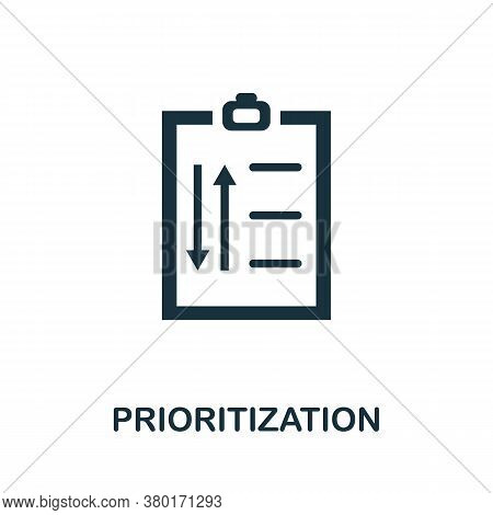Prioritization Icon. Simple Element From Business Intelligence Collection. Creative Prioritization I