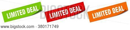 Limited Deal Sticker. Limited Deal Square Isolated Sign. Label