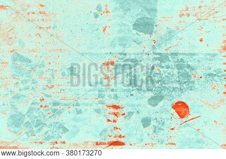 Abstract Red, Orange, Celadon And Aquamarine Colors Background For Design.