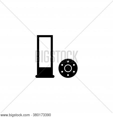 Shotgun Hunting Firearms Cartridges, Rifle Bullet. Flat Vector Icon Illustration. Simple Black Symbo