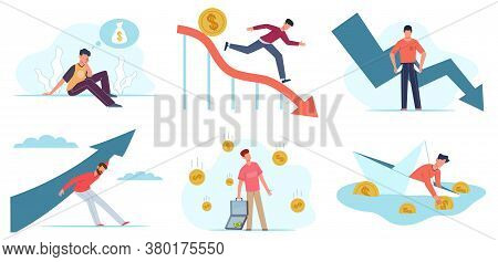 Financial Problems. Depressed Man With Unpaid Loan Debt, Economic Crisis, Business Bankruptcy, Compa