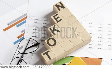 Token Words With Wooden Blocks. Business Concept.