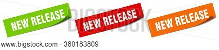 New Release Sticker. New Release Square Isolated Sign. Label