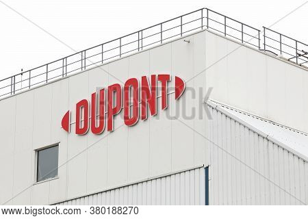 Sassenage, France - September 10, 2019: Dupont Factory In France. Dupont Is One Of Americas Most Inn