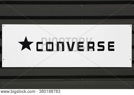 Macon, France - March 15, 2020: Converse Is An American Shoe Company With A Production Output That P