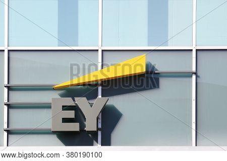 Aarhus, Denmark - April 19, 2019: Ernst & Young Offices Building. Ernst & Young Also Called Ey Is On