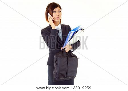 Smartphone wite Woman.