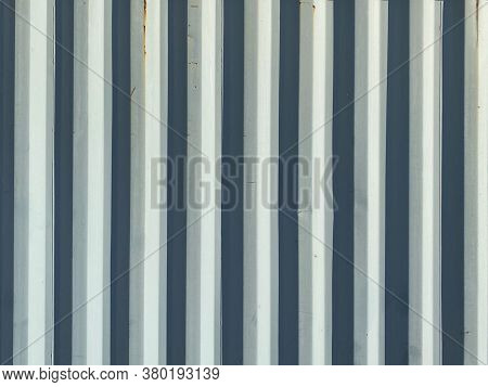 White Bright Shadow Old Corrugated Shipping Container Wall Suitable For Website Marketing Background