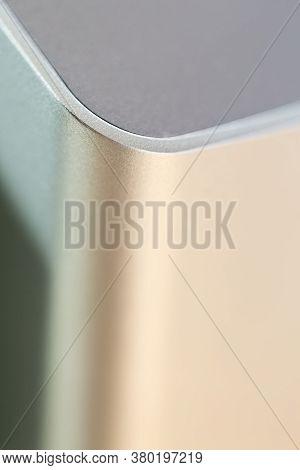Abstract Aluminium Metal Teture Close Up Macro, Industry Background Concept, Selective Focus
