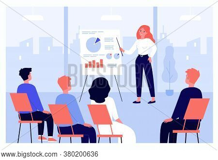Businesspeople Learning Finance Lecture With Coach Or Speaker Isolated Flat Vector Illustration. Car