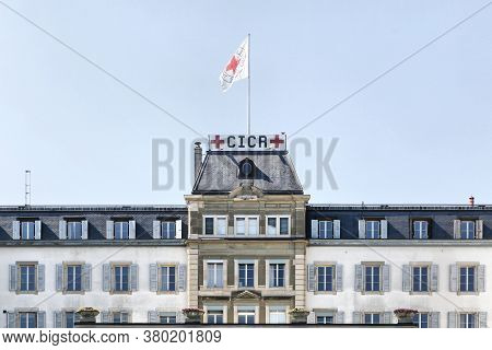 Geneva, Switzerland - August 14, 2016: Icrc Office Building And Headquarters. The International Comm