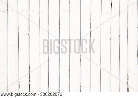 White Bamboo Wood Planks Texture Abstract Background
