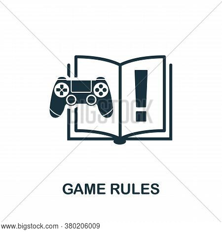Game Rules Icon. Simple Element From Game Development Collection. Filled Game Rules Icon For Templat