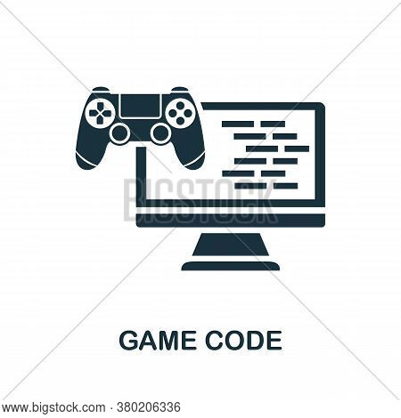 Game Code Icon. Simple Element From Game Development Collection. Filled Game Code Icon For Templates