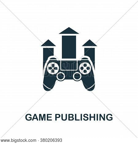Game Publishing Icon. Simple Element From Game Development Collection. Filled Game Publishing Icon F