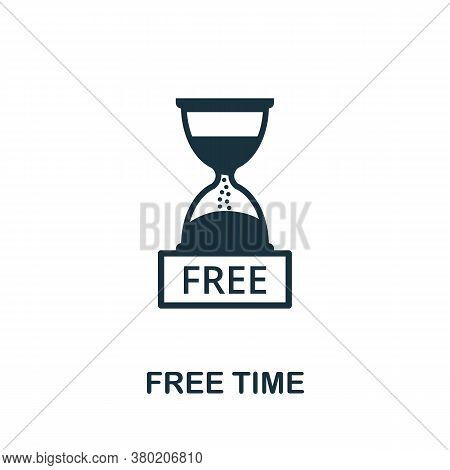 Free Time Icon. Simple Element From Business Technology Collection. Filled Free Time Icon For Templa