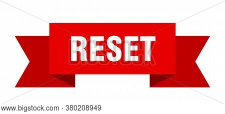 Reset Ribbon. Reset Isolated Band Sign. Banner