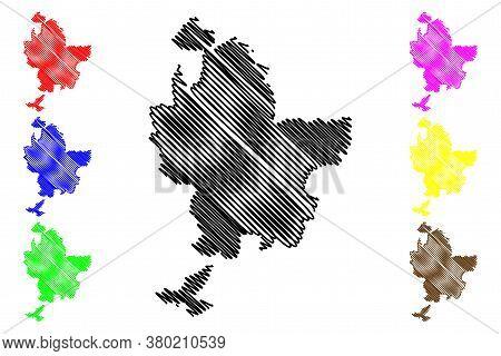 Lyon Metropolis Department (france, French Republic, Auvergne-rhone-alpes Region, Ara) Map Vector Il