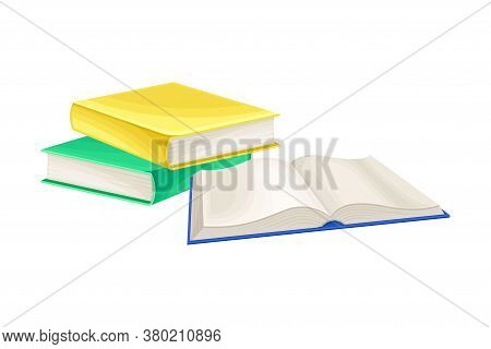 Pile Of Books As Manufactured Product Vector Illustration