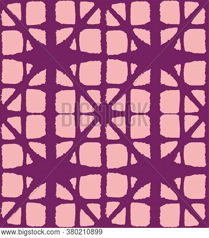 Japanese Tie Dye Seamless Pattern. Bohemian Geometric Asian Tie Dye Design. Luxurious Japanese Cloth
