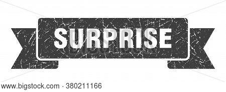 Surprise Grunge Vintage Retro Band. Surprise Ribbon